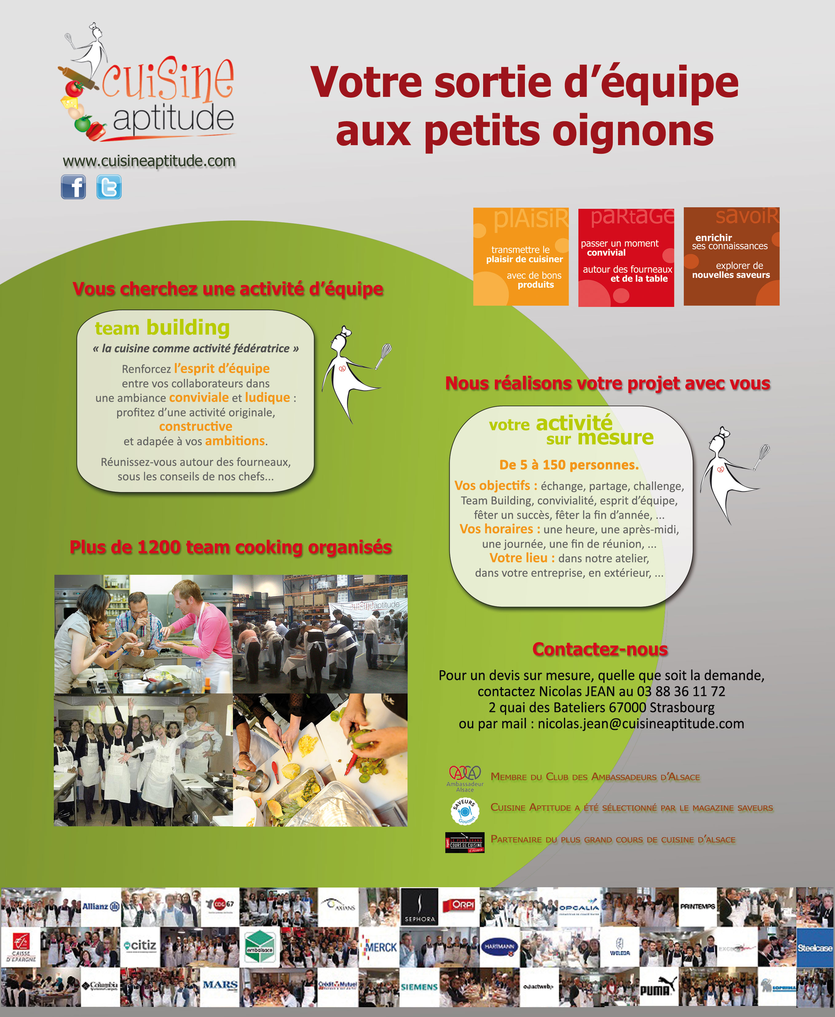 Cuisine Apude Strasbourg | Activities Cuisine Aptitude Cours De Cuisine For Your Seminar In